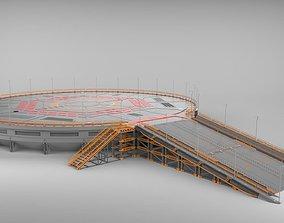 sci-fi landing platform 4 3D model