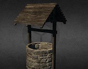 Medieval well 3D asset