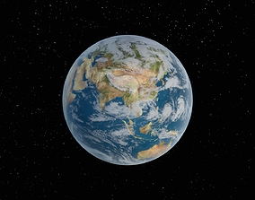 Planet Earth terra 3D asset low-poly