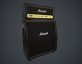 3D asset low-poly Marshall AMP PBR Spec Rough
