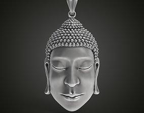 Buddha face pendant 3D print model