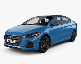 Hyundai Avante Sport with HQ interior 2017 3D