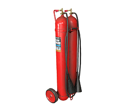 3D asset Fire extinguisher Used Dirty Game-Ready