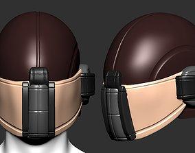 helmet scifi high poly sculpt ver 2 3d printable