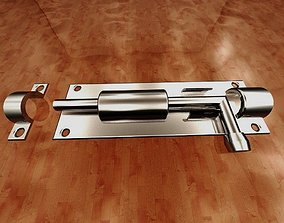 interior door lock-slide barrel bolt 3D print model