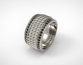 3D print model David Yurman Maritime Rope Band Ring Eu 65