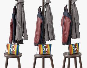 3D model Pillar Coat Stand
