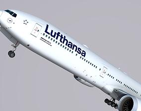 Boeing 777-9x Lufthansa 3D asset