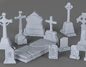 3D printable model Weathered Tombstone Collection