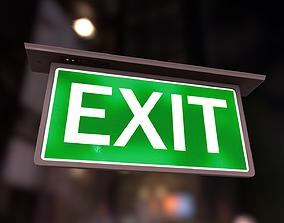 3D model Emergency Exit Indicator V2