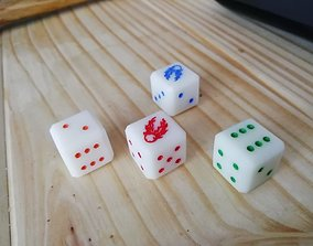 16mm Twin-tail Comet dice 3D printable model