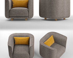 Fat Tulip arm chair 3D asset