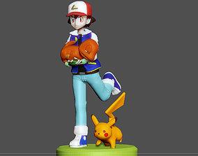 pokemon ASH SAVING CHARMANDER MODEL FOR 3D PRINT