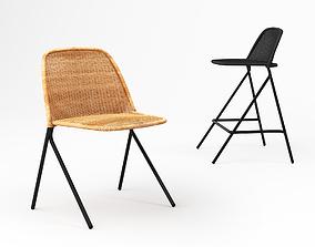3D Feelgood designs Kaki chair and stool