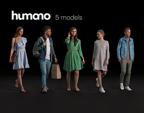 Humano 5-Pack - PEOPLE - DIVERSE - STREET - 5x 3D 1