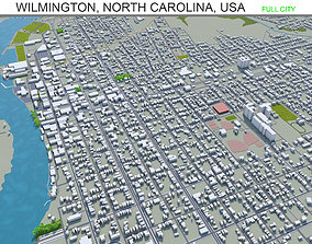 3D asset Wilmington North Carolina USA 25km