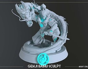 Overwatch Genji Baihu figurine Collectible for 3d