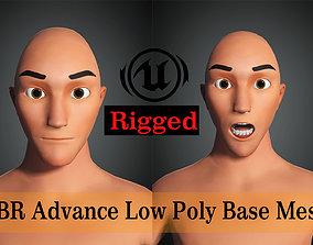 Base Mesh Advance Male cartoon 3D asset animated