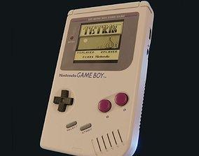 Nintendo Game Boy High-poly version 3D model PBR