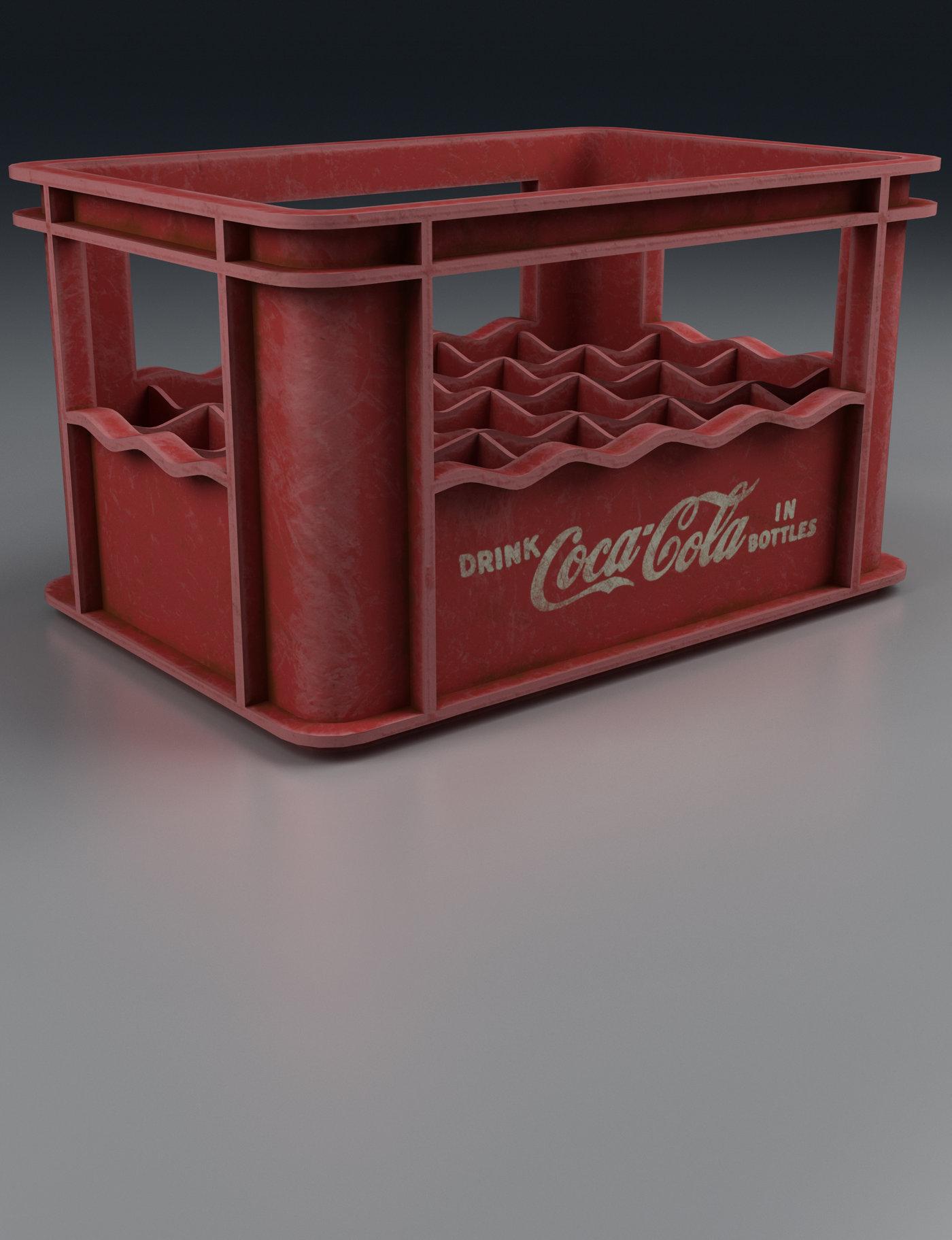 Old Beverage Crate Red Render
