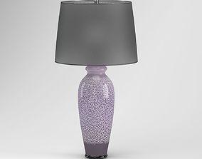 Black Round Table Lamp 3D model