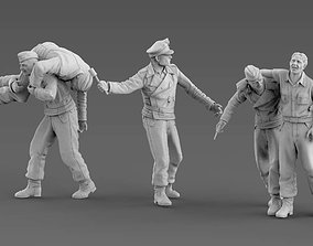 3D printable model German soldiers tank crew