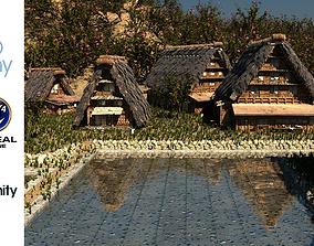 Shirakawago Village Set 3D model