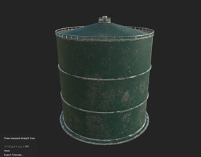 VR / AR ready Industrial tank01 Low-poly 3D model