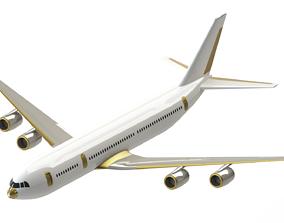 Passenger plane based on IL-96 3D model