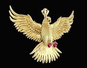 1573 Eagle Pendant New design 2019 3D printable model