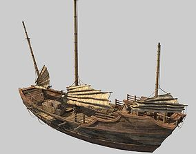 3D model Chinese Boat
