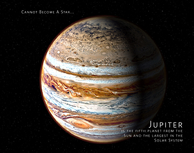 animated Jupiter 3d max corona rander model