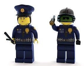 3D model Lego Police Officer pack new