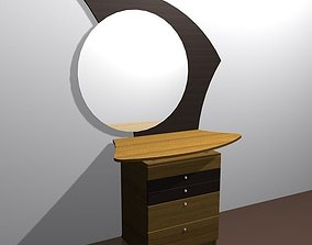 3D asset game-ready Commode furniture 01