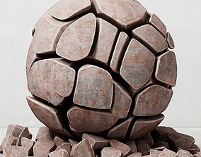 Stone sphere decor 3D model