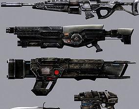 3DRT - Sci-Fi Firearms Animated animated