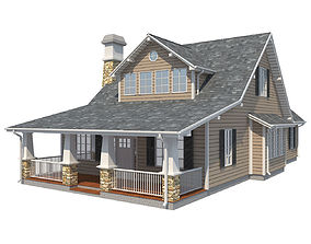 Family House 2 3D model game-ready