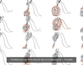 19 Solitaire pendant Bulk collection 3dm stl render 1