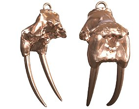 3D printable model Cranium Charm Walrus Bronze
