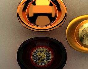 3D model yuanbao Chinese gold ingot