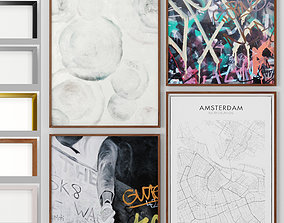 3D Art Frams 36- Amsterdam Map and Dazzling painting