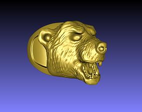 aggressive bear face ring 3D print model