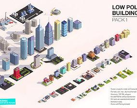 Low Poly Buildings Pack 3D