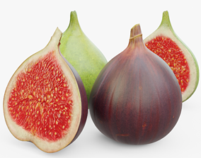Green and Red Figs 3D model