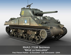 M4A2 Sherman - Brive la Gaillarde m4a3 3D