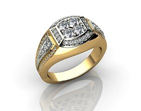 Jewelry for Men Diamond Rings 3D print model