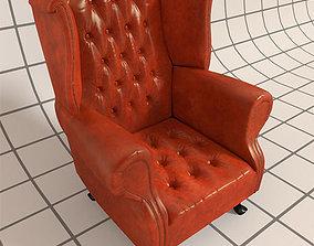 3D model Vintage Wingback Chair