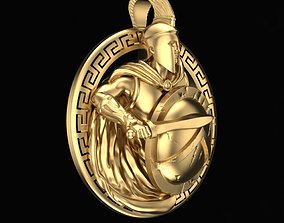 Pendant Spartan 3D printable model male-pendant