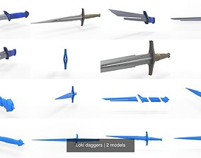 3D Loki daggers