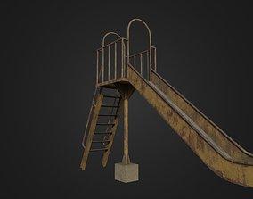 3D model Old Worn Japanese Slide
